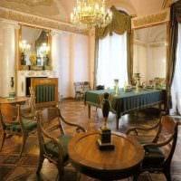 светлый декор комнаты в стиле ампир фото