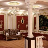 яркий дизайн спальни в стиле ампир картинка