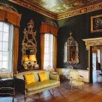 светлый декор гостиной в викторианском стиле картинка