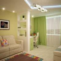 яркий дизайн гостиной спальни картинка
