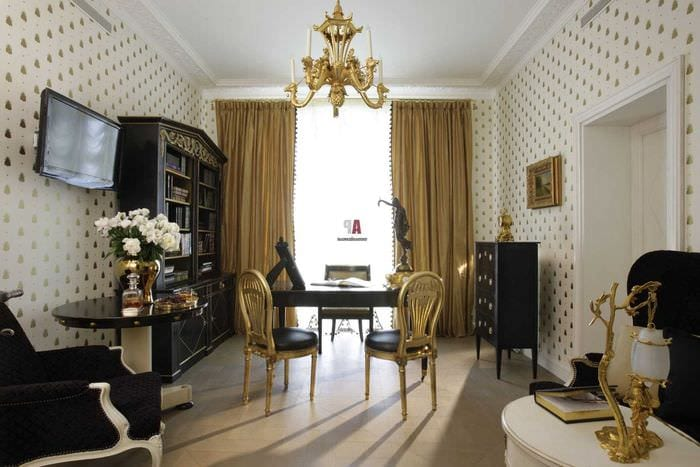 красивый декор квартиры в стиле ампир