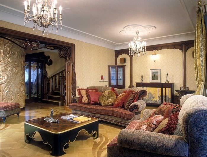 необычный дизайн спальни в стиле модерн
