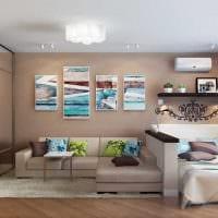 светлый стиль спальни гостиной картинка