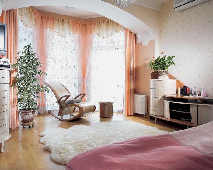 красивый декор спальни гостиной