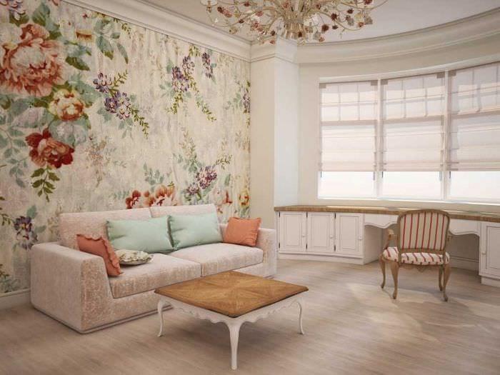 оригинальный интерьер спальни в стиле прованс