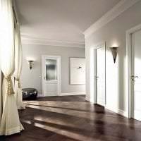 темные двери в декоре кухни фото