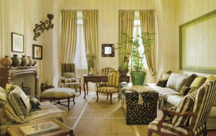 темный стиль гостиной в викторианском стиле