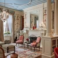 необычный дизайн гостиной в викторианском стиле картинка