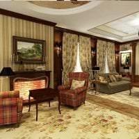 светлый интерьер гостиной в викторианском стиле фото