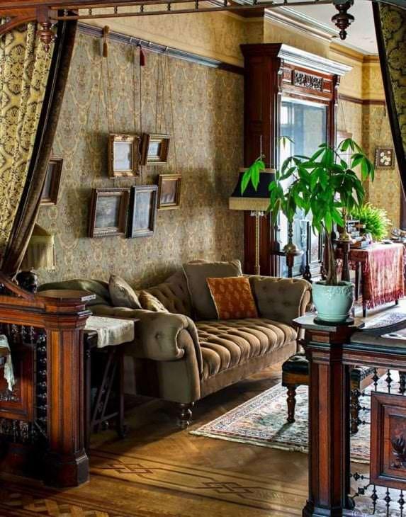 необычный дизайн квартиры в викторианском стиле