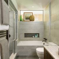 светлый интерьер ванной комнаты картинка