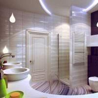 яркий дизайн душевой комнаты фото