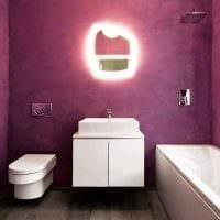идея цветной декоративной штукатурки в декоре ванной картинка