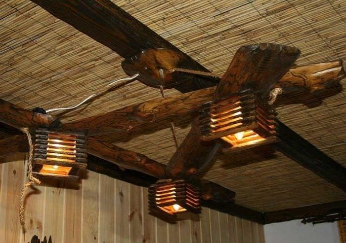 Декоративные светильники из дерева своими руками фото 85