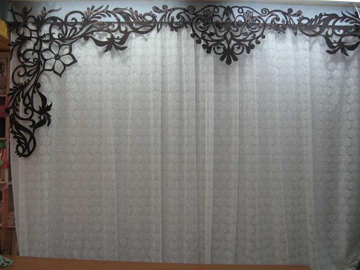 идея красивого оформления штор своими руками