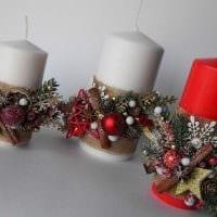 идея шикарного украшения свечек своими руками фото