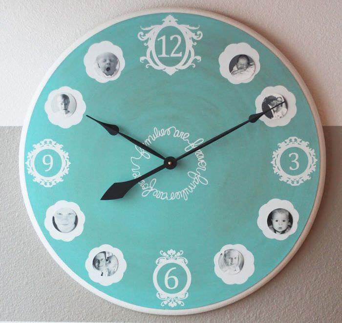 идея красивого декорирования часов своими руками