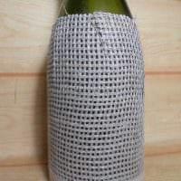 идея шикарного оформления бутылок шпагатом картинка