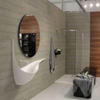 идея яркой декоративной штукатурки в дизайне ванной картинка