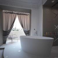 вариант красивой декоративной штукатурки в декоре ванной комнаты картинка