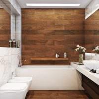 идея яркой декоративной штукатурки в интерьере ванной фото