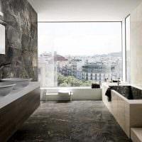 идея цветной декоративной штукатурки в интерьере ванной фото