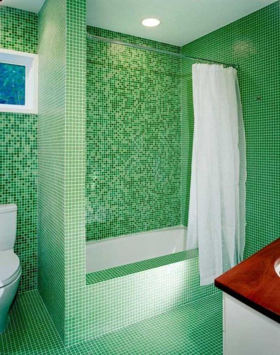 идея оригинальной декоративной штукатурки в интерьере ванной