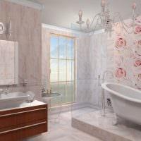 вариант оригинальной декоративной штукатурки в дизайне ванной комнаты картинка
