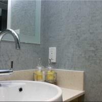вариант яркой декоративной штукатурки в дизайне ванной картинка