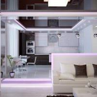 идея цветной led подсветки интерьера фото