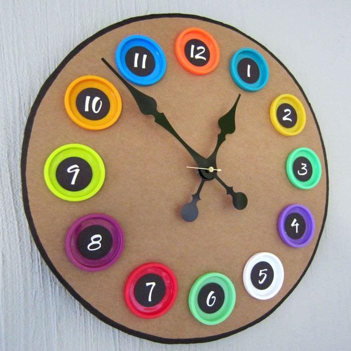 вариант красивого оформления часов своими руками