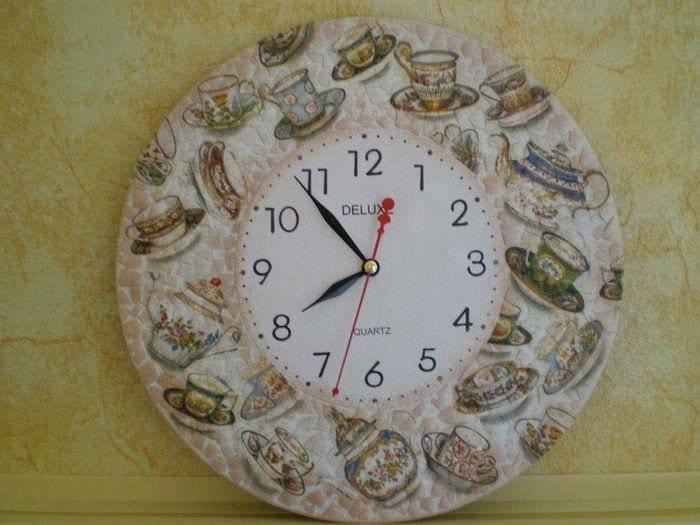 Декор старых часов своими руками 20