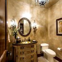 вариант красивой декоративной штукатурки в интерьере ванной комнаты картинка