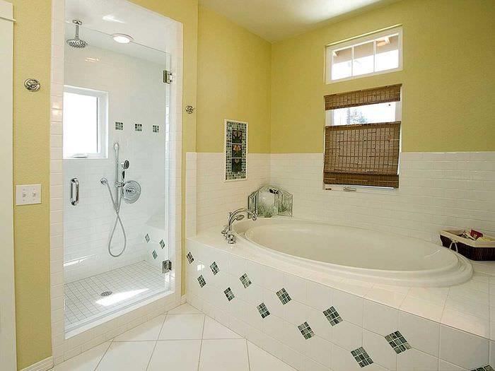 вариант цветной декоративной штукатурки в дизайне ванной
