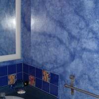идея яркой декоративной штукатурки в дизайне ванной фото