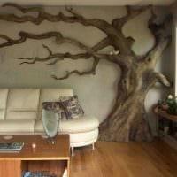 идея красивого украшения комнаты деревом своими руками картинка