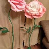 Белые цветы на ножке из бумаги своими руками 42