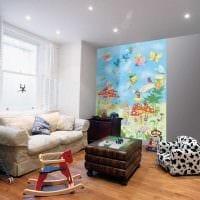вариант светлого украшения детской комнаты картинка