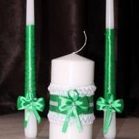 вариант красивого декорирования свечек своими руками картинка