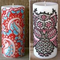 идея шикарного украшения свечек своими руками картинка