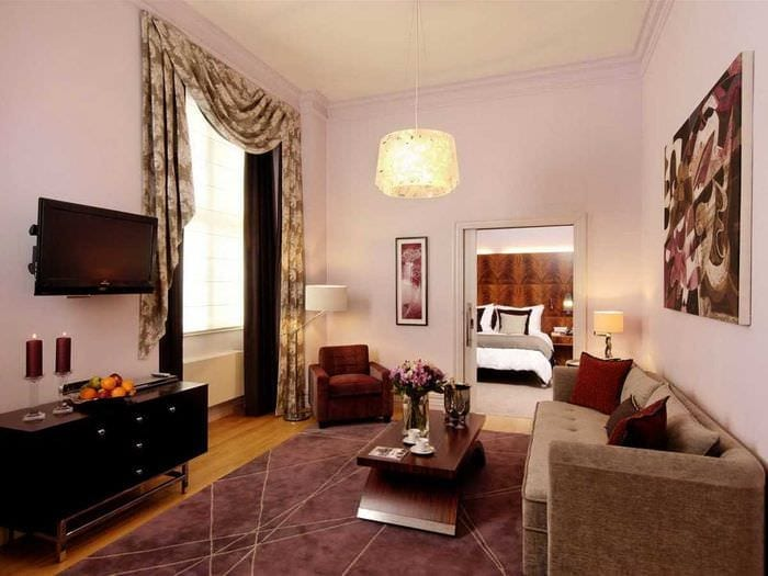 идея оригинального декора гостиной комнаты своими руками
