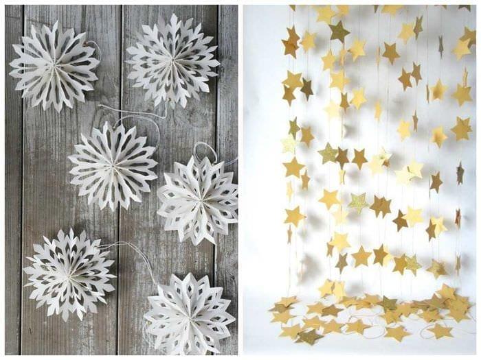 идея светлого декорирования праздника бумагой