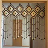 идея красивого декорирования штор своими руками фото