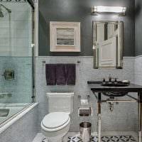 вариант цветной декоративной штукатурки в дизайне ванной комнаты картинка