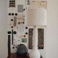 вязанные чехлы в декоре гостиной картинка