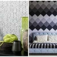 вязанные подушки в декоре квартиры фото