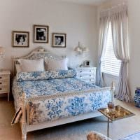 оригинальный декор квартиры в голубом цвете фото