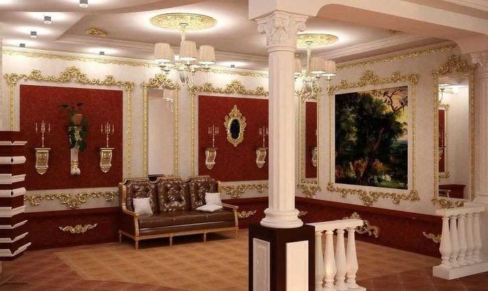 необычный дизайн комнаты в стиле ампир