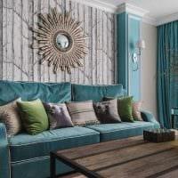 светлый интерьер квартиры в голубом цвете картинка