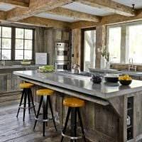 красивый дизайн кухни в стиле рустик картинка